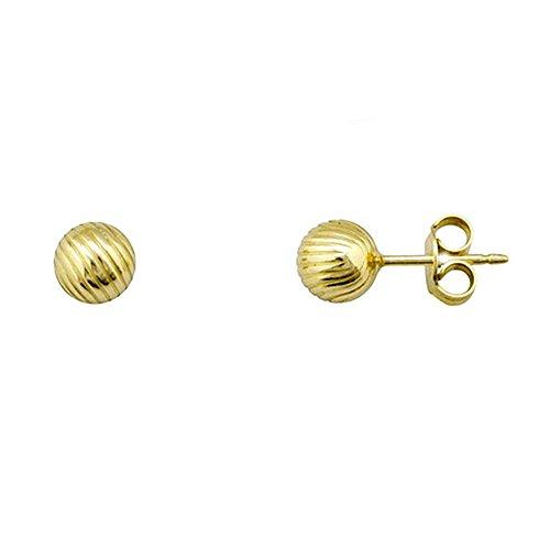 pendientes-plata-ley-925m-dorada-bola-6mm-rayada-aa3506