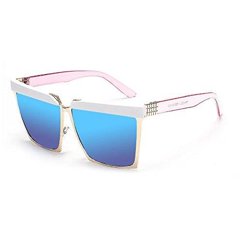 YANXJING Große Kiste quadratische Sonnenbrille Sonne strahlenbeständig Brille Frauen Fahren Spiegel, c