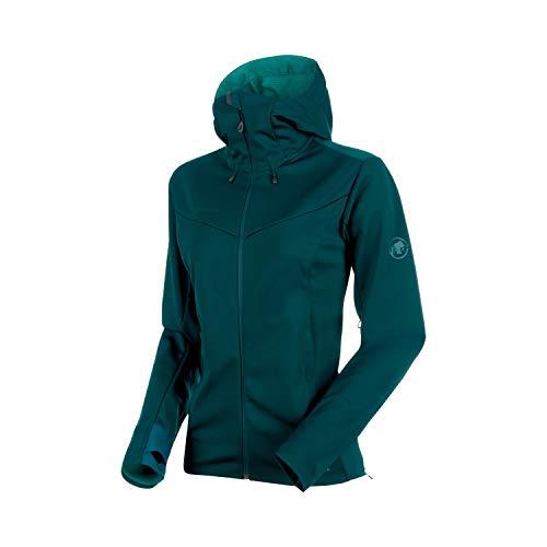 Mammut Damen Softshell-Jacke Ultimate V mit Kapuze Teal-Atoll Melange, M