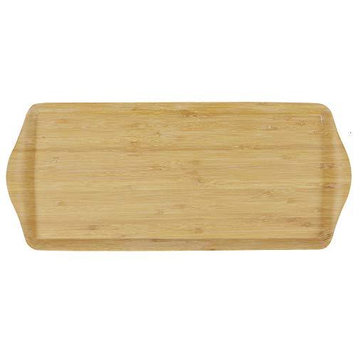 ablett zum Servieren - Umweltfreundlich und Robust, Rechteckiges Tablett aus Holz für Snacks - Klein ()