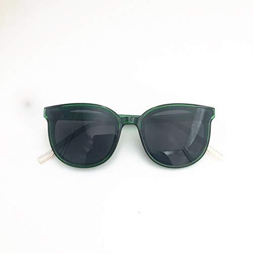 BUBULILI Neue Sonnenbrille weibliche koreanische Version Flut polarisierte Sonnenbrille Hundert dunkelgrüne Flut Marke Brille Outdoor-Mode polarisierte Nachtsicht