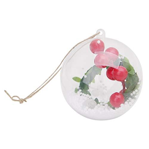 JAGENIE Ball Form LED Licht Lampen Weihnachtsbaum Hängende Ornamente Urlaub Dekoration B