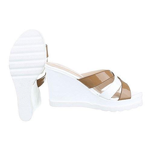 7fa7fdd074f047 Pantoletten Damen Schuhe Jazz   Modern Keilabsatz  Wedge Keilabsatz  Ital-Design Sandalen   Sandaletten