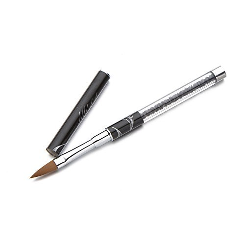 5Fünf Carve Marmor Nylon UV-Gel Acryl Nail Art Tipps Stift malen Zeichnen Pinsel (schwarz 12#) - Nylon-gel-pinsel