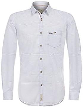 Stockerpoint - Herren Trachtenhemd in Hellblau, Drake