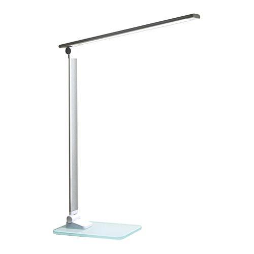 Metall Schreibtischlampe LED Tageslichtlampe Faltbare Touch Control Metall LED Tischlampe Dimmbare Schreibtischlampe Mit USB Aufladen Schlafzimmer Nachtlicht 3 Stufen Helligkeit Glassockel -