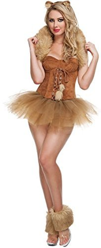 Tier Katze Junggesellinnenabschied Halloween Party Kostüm Kleid Outfit UK 8-10-12 (Katze Halloween-outfits Uk)