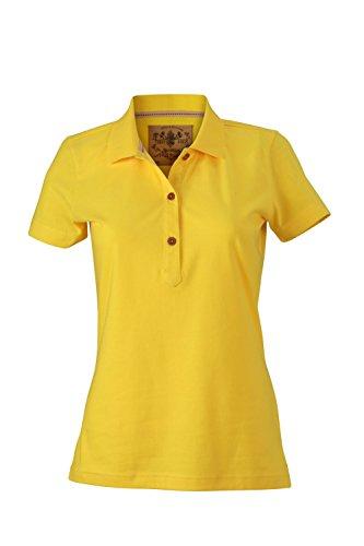 Polo slim vintage Ladies' Vintage Polo Sun-Yellow