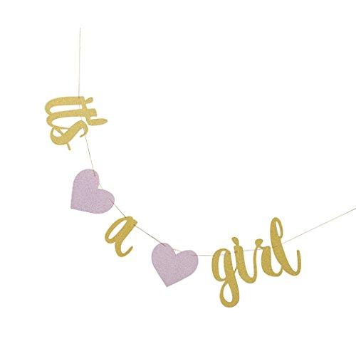 ng Girlande Banner für Baby Shower Party Dekoration - es ist ein Mädchen (Baby-dusche-its A Boy)
