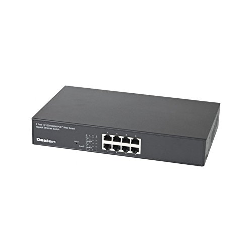 Dexlan Managebarer Gigabit Switch, 8 PoE+ Ports