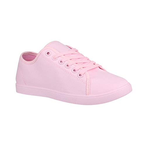 Elara Basic Sneakers | Sportlich Bequeme Turnschuhe | Low Schnürer | chunkyrayan CL33319 Pink-41