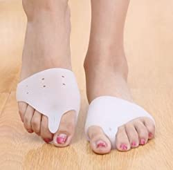 Super Soft Functional Silicone Pain Relief Pad for Front Foot Bunion Hallux Foot Pain One Pair. Universal size. One size fits all.