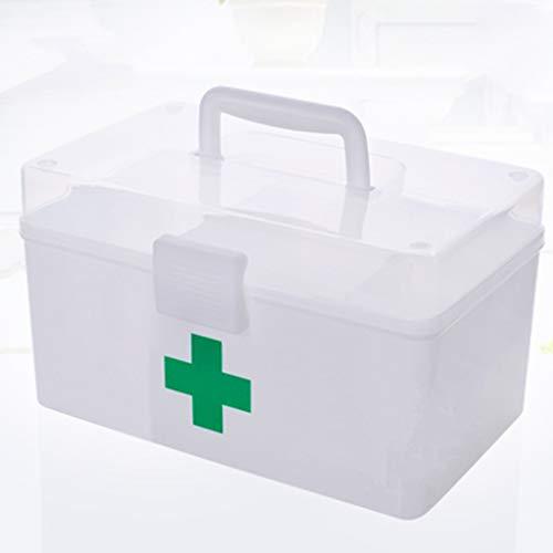 Lxrzls cassetta di pronto soccorso scatola di medicina multifunzionale scatola di medicina di separazione multistrato scatola di immagazzinaggio