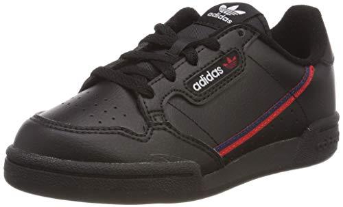 adidas Continental 80 C, Scarpe da Ginnastica Unisex Bambini, Nero Core Black/Scarlet/Collegiate Navy, 35 EU