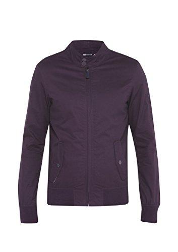 Herren-Dreamweaver Stylische lässige Handtasche Harrington Bomber-Jacke, aus Baumwolle, leichtgewichtig, Tabak, Marine, Pflaume