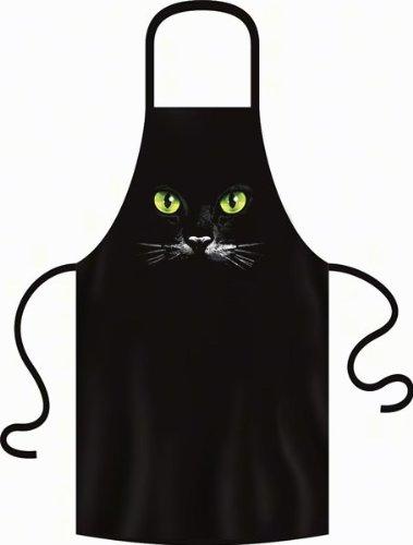 """geil bedruckte Grillschürze Schürze für Katzenfreunde \"""" Schwarze Katze ! \"""" Uni-Größe"""