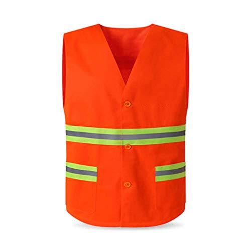 WYJW Giubbotto Catarifrangente,? Giubbotto Gilet Riflettente Vest Abbigliamento Gilet da Lavoro Lavaggio Tuta da Lavoro Abbigliamento da Giardino (Taglia: 2 Pezzi)
