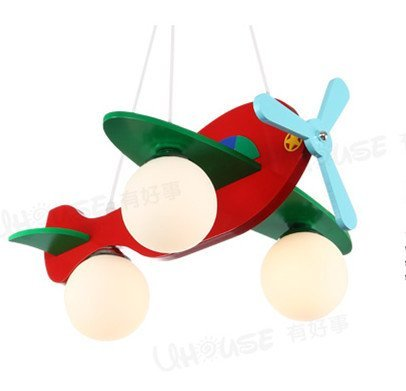 Es gibt eine gute Sache f¨¹r Kinder niedliche kleine Lichter Flugzeugbeleuchtung Schlafzimmerlampe Kronleuchter kreative Cartoon Jungen und M?dchen Zimmer - 2