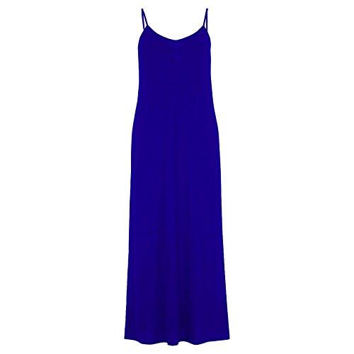 Cami Débardeur pour femme à Spaghetti Maxi robe avec sangle Taille 36–50 Bleu - Bleu marine