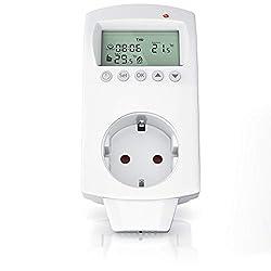 ALLEGRA Thermostat Steckdose mit DE Bedienungsanleitung Funkthermostat f/ür Infrarotheizung Heizl/üfter Heizung Klimaanlage Funk Steckdosenthermostat Digitaler Temperaturregler Steckerthermostat T21