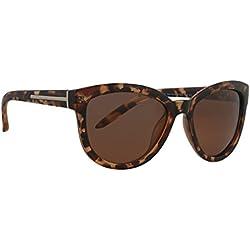 Sonnenbrille UPF632F3 polarisierte Damen Mode Brille Fassung braun marmoriert, Linse braun