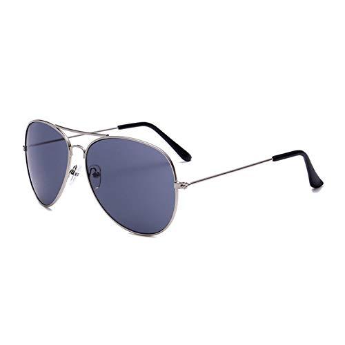 YOURSN Fashion Designer Sonnenbrillen Männer Vintage Pilot Sonnenbrillen Männer Frauen Metallrahmen Sonnenbrillen Aviator Mirror Retro Eyewear-Silvergray