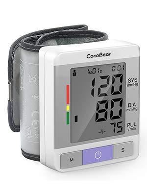 Handgelenk Blutdruckmessgerät, CocoBear, vollautomatische medizinische professionelle Herzfrequenz Pulsmonitor, komfortables tragbares Blutdruckmessgerät, LCD-Display