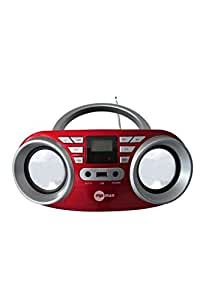 tragbarer cd player mit cd mp3 usb und fernbedienung. Black Bedroom Furniture Sets. Home Design Ideas