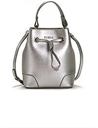 40cb508bf6 Furla Stacy Mini Drawstring Crossbody Handbag Silver