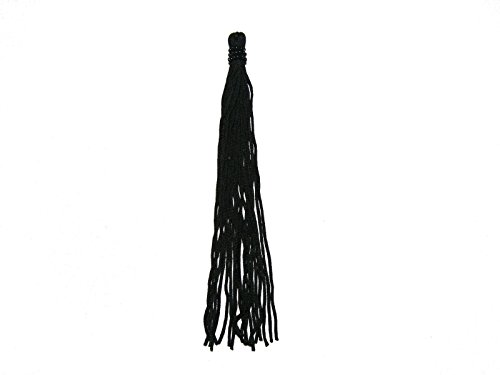 Altotux 6 Black Beaded Tassel Fringe Decorative Crafts Sewing Notions by 2 Pcs by Altotux