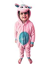 89bd650127 Wunsy Childrens Boys and Girls Hood Onesie Fluffy Fleece CHICKEN CAT