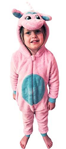Kinder Jungen Mädchen Tier Overall flauschig Fleece Mops -