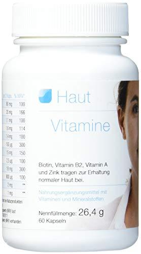 Vihado Haut Vitamine, OPC, Biotin, Vitamin B2, Vitamin A und Zink, 60 Kapseln, 1er Pack (1 x 26,4 g)
