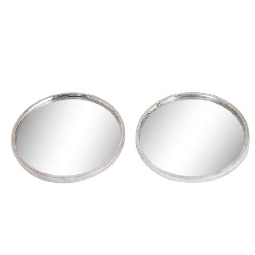 sourcingmap® 40mm Dia Parte Posteriore Adesiva Ampiezza Angolo Viewing Punto Cieco Specchio 2 Pezzi per (4 Mm Specchio)