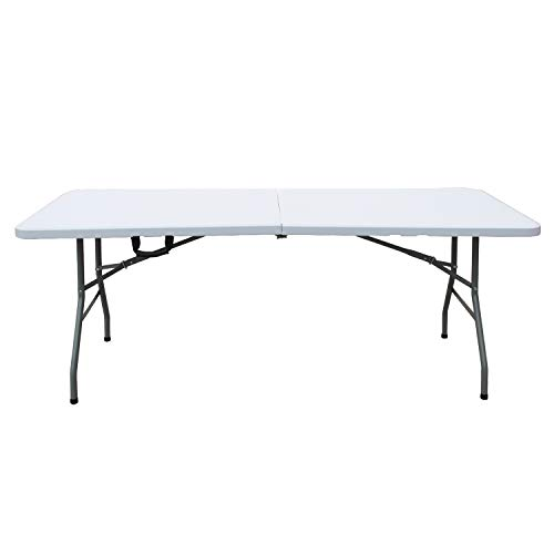 soges Gartentisch Klapptisch Faltbarer Campingtisch aus Aluminium Keine Montage und leicht zu tragen,180 * 74 cm,HP-180CZ