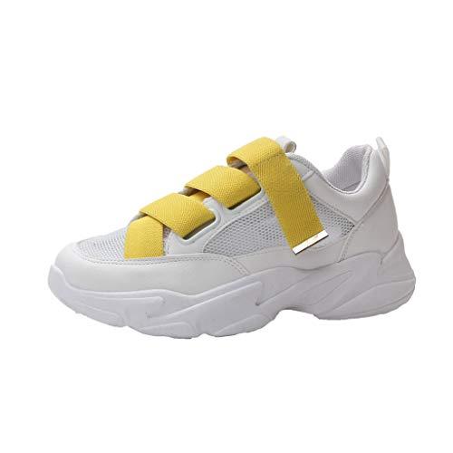 POLPqeD Scarpe da Corsa Eleganti Signore Estive Donna Mid Heel Muffin Bottom Casual Scarpe Fashion Stitching Platform Sneakers