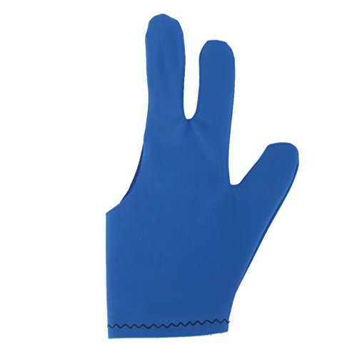 3 Finger Dehnbar Pool Snooker Queue Schuetzen Billardhandschuh Blau