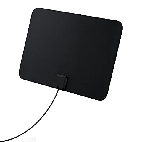 Indoor TV Aerial, [Updated Version]Pictek TV antenna Ultra-Thin Amplified 50 Miles Amplified HDTV Antenna, Detachable Amplifier Signal B-ooster, indoor aerials for Freeview TV VHF UHF FM