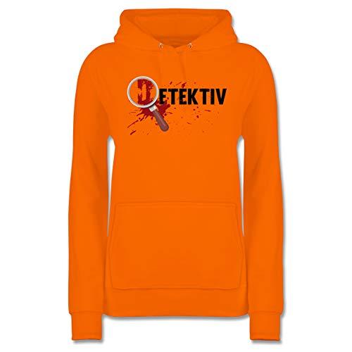 (Shirtracer Karneval & Fasching - Detektiv Karneval Kostüm - XS - Orange - JH001F - Damen Hoodie)