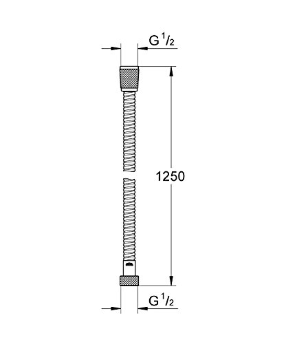GROHE Relexaflex | Brause- und Duschsystem - Brauseschlauch | 125 cm | 28150000