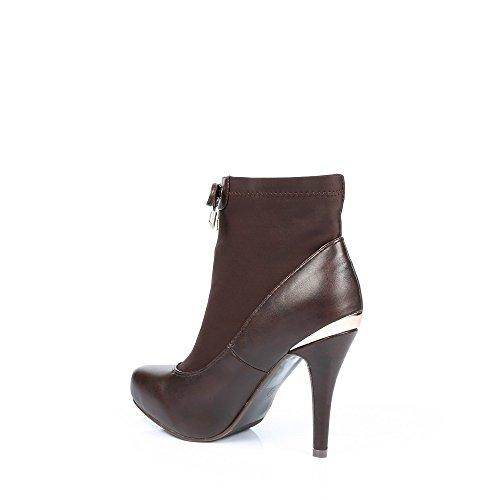 Do Placa material Alguma Inicialização Métalisée Tornozelo Elasticidade Castanho Nadina Traseira E Ideais A Bi Sapatos Com F4xHUwET