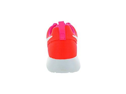 Nike Roshe Run, Chaussures de running fille Lava Glow/White-Pink Pow