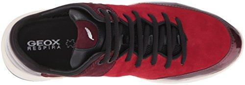 Geox D Sfinge A, Scarpe da Ginnastica Basse Donna Rot (DK RED/DK BURGUNDYC7M7J)