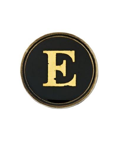 Cath Kidston Circular Pin Badge with Printed Alphabet Insert - E