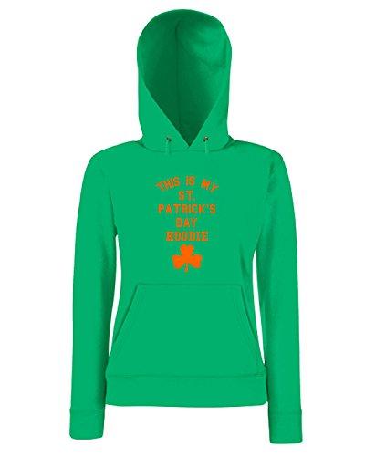 T-Shirtshock - Sweatshirt a capuche Femme T0458 san patrizio festivita Vert