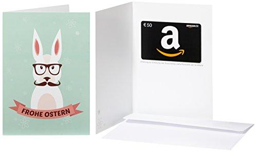 Amazon.de Geschenkkarte in Grußkarte - 50 EUR (Hipster-Hase)