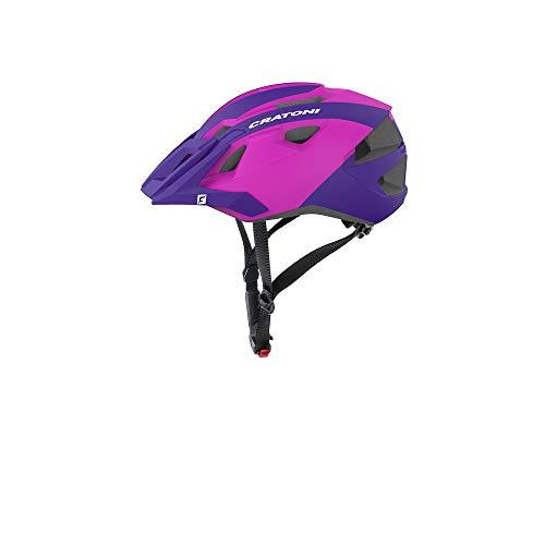 Cratoni Mountainbike Helm AllRide, Purple-pink matt, Gr. Uni (53-59 cm)