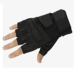 Blackhawk Tactical Gloves Military Armed Paintball Airsoft Shooting Combat Army Hard Knuckle Full Finger Gloves (L, Black)