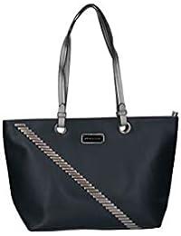 PIERRE CARDIN bolso azul mujer shopper hombro con dos asas VN3094