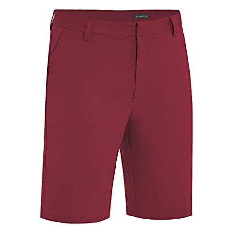 2015 Ashworth Performance Solid Stretch Flat Front Mens Funky Golf Shorts Sangria 30